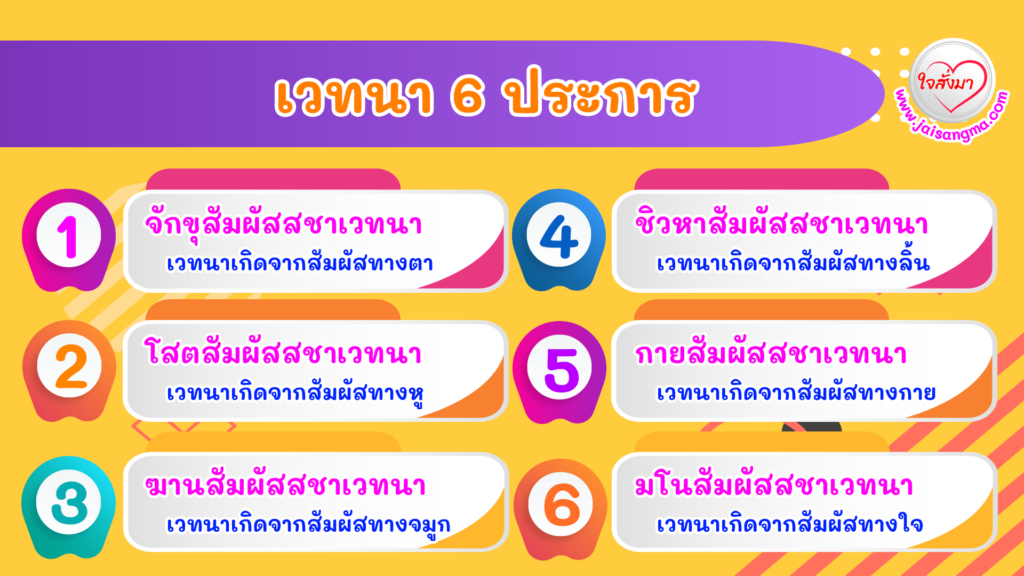เวทนา 6 ประการ